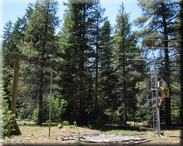 Photograph is of the Fourmile Lake         SNOTEL site.