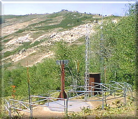 Photograph is of the Green Mountain        SNOTEL site.