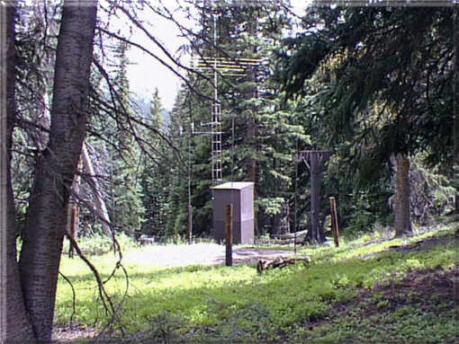 Photograph is of the Grizzly Peak  SNOTEL site.