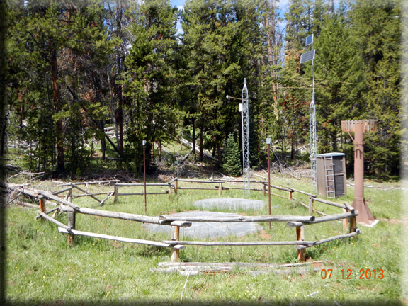 Photograph is of the Gros Ventre Summit  SNOTEL site.