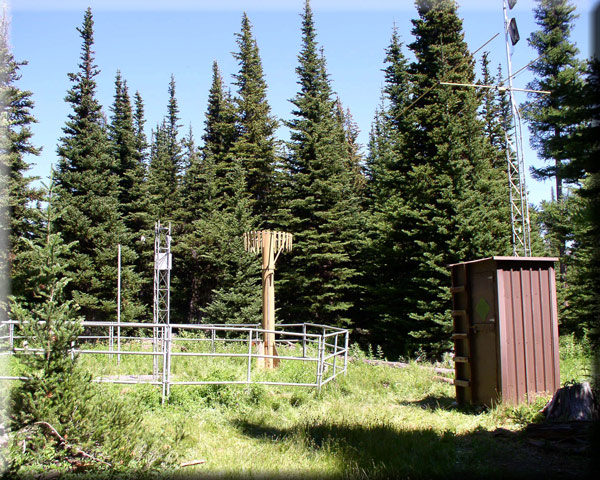 Photograph is of the Grouse Camp  SNOTEL site.
