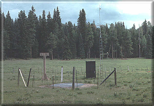 Photograph is of the Hannagan Meadows      SNOTEL site.