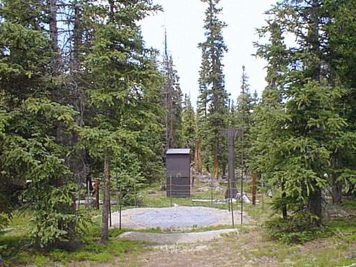 Photograph is of the Hoosier Pass          SNOTEL site.