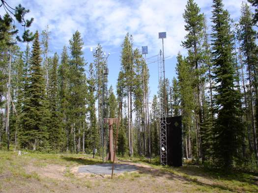 Photograph is of the Jackson Peak  SNOTEL site.