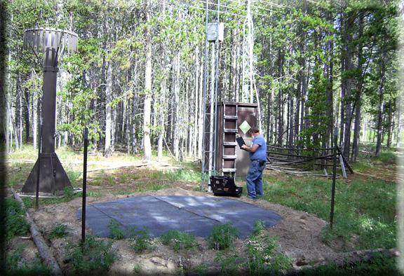 Photograph is of the Laprele Creek  SNOTEL site.