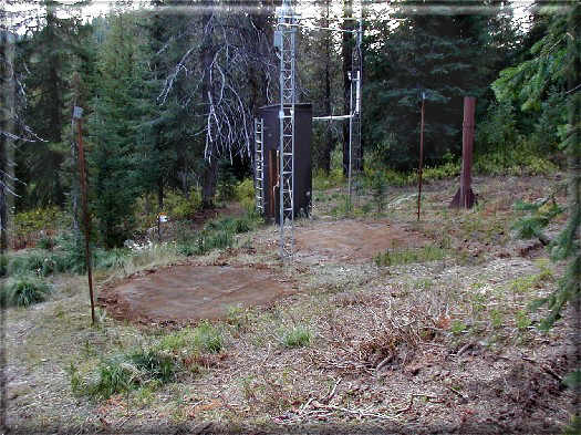 Photograph is of the Lolo Pass  SNOTEL site.