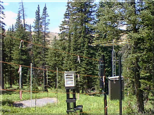 Photograph is of the Loveland Basin        SNOTEL site.