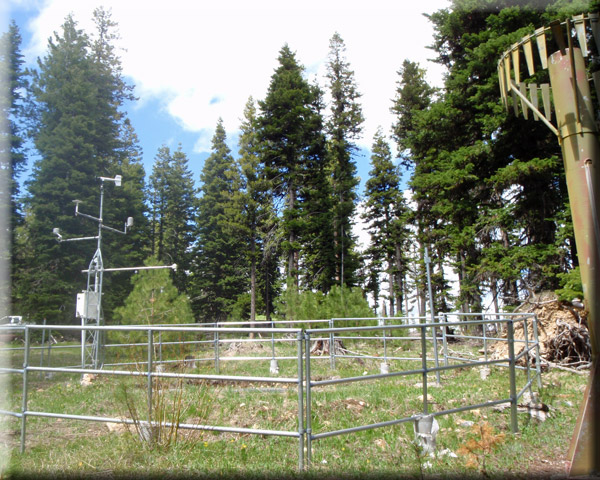 Photograph is of the Madison Butte  SNOTEL site.