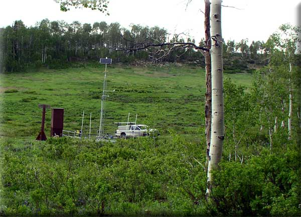 Photograph is of the Mammoth-Cottonwood  SNOTEL site.