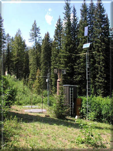 Photograph is of the Mores Creek Summit  SNOTEL site.