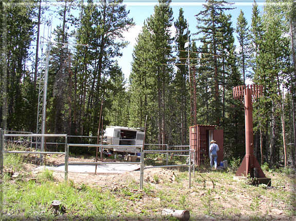 Photograph is of the Mosby Mtn.            SNOTEL site.