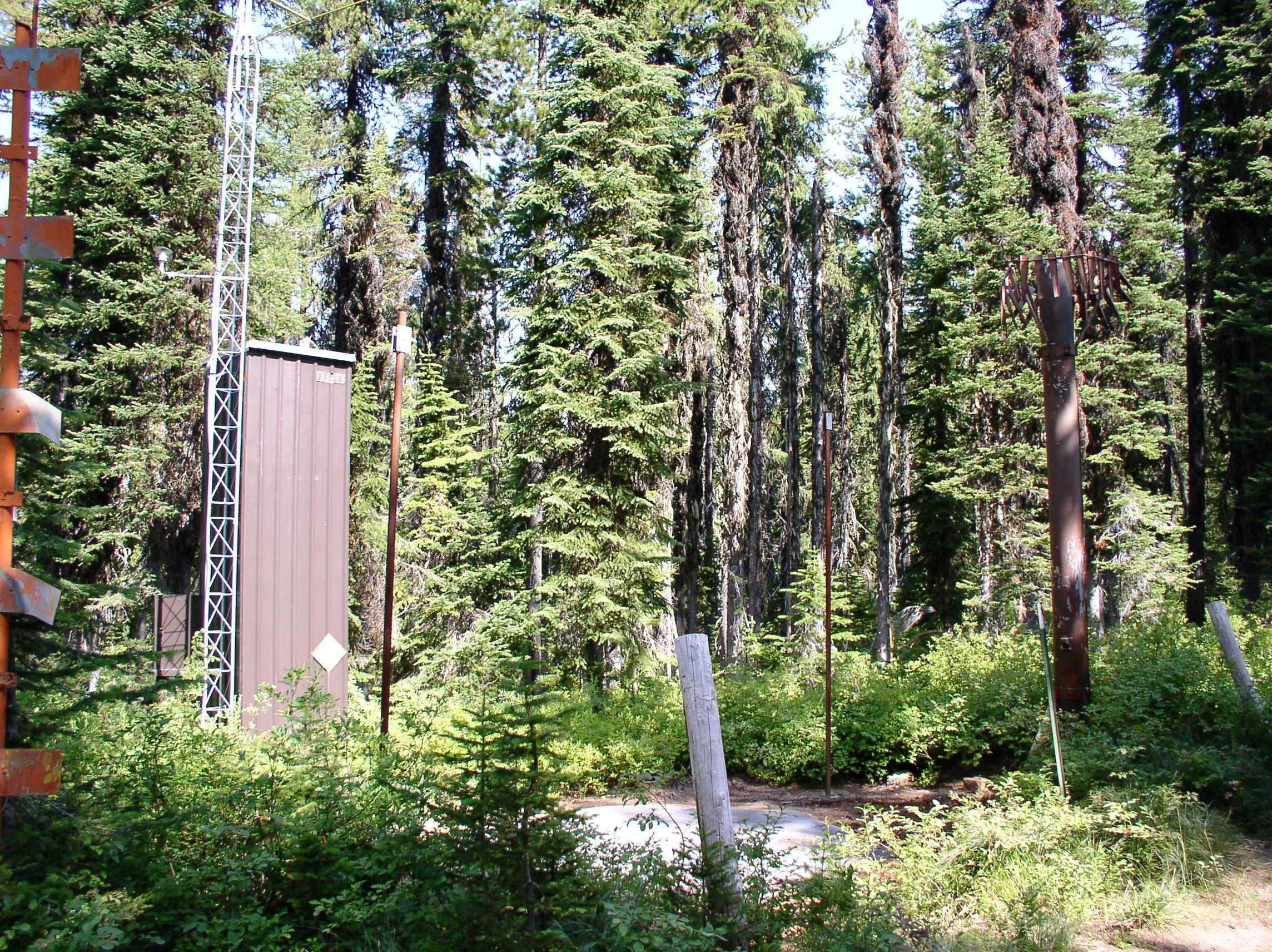 Photograph is of the Mosquito Ridge  SNOTEL site.