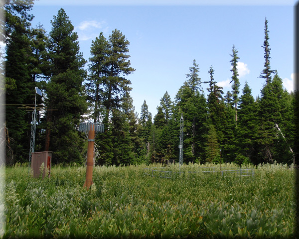 Photograph is of the Ochoco Meadows        SNOTEL site.
