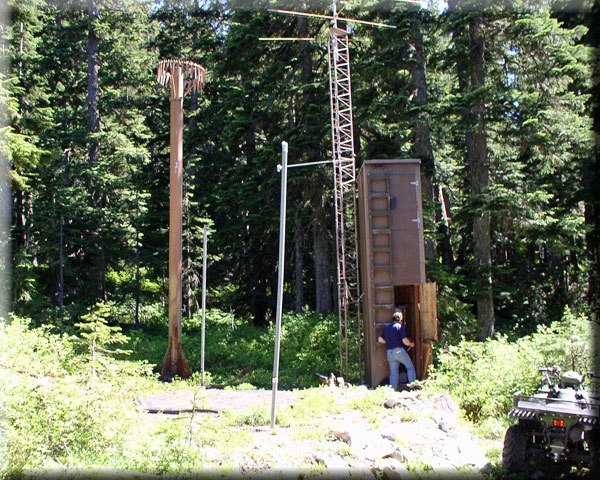 Photograph is of the Olallie Meadows  SNOTEL site.