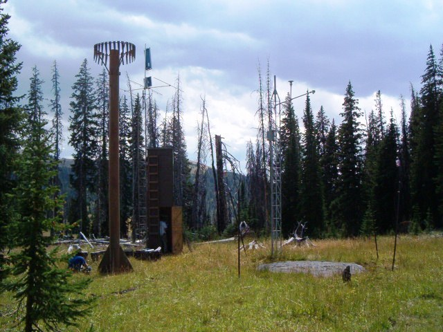 Photograph is of the Parker Peak           SNOTEL site.