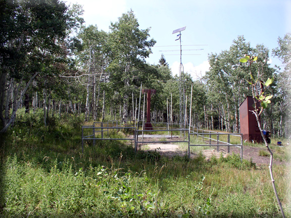 Photograph is of the Parleys Summit  SNOTEL site.