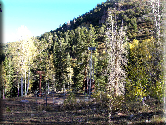 Photograph is of the Pine Creek  SNOTEL site.