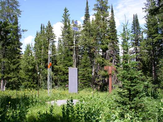 Photograph is of the Pine Creek Pass  SNOTEL site.