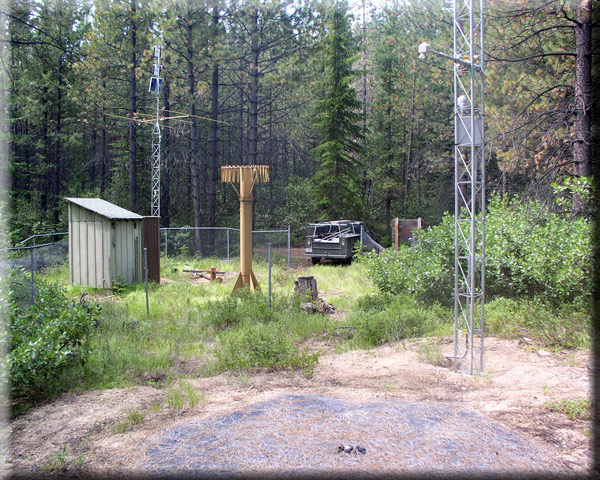 Photograph is of the Pope Ridge            SNOTEL site.