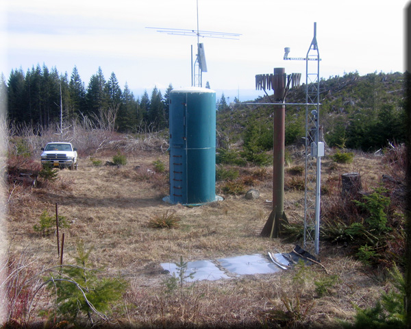 Photograph is of the Saddle Mountain  SNOTEL site.