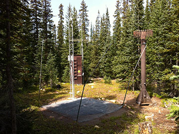 Photograph is of the Sand Lake  SNOTEL site.