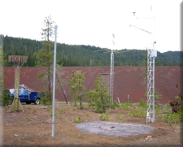 Photograph is of the Santiam Jct.  SNOTEL site.