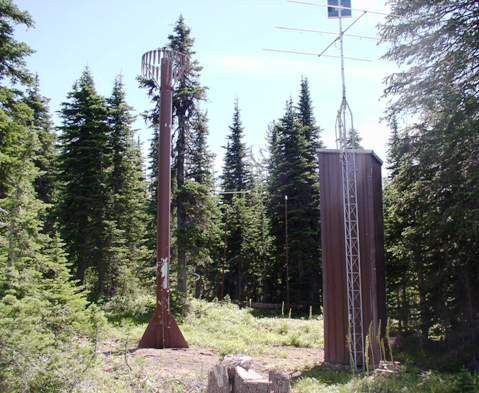 Photograph is of the Schweitzer Basin  SNOTEL site.