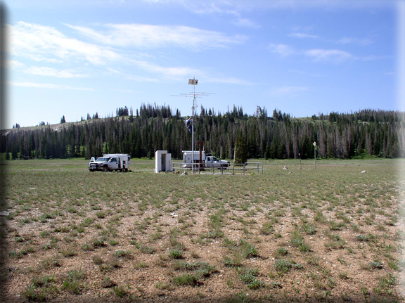 Photograph is of the Seeley Creek  SNOTEL site.