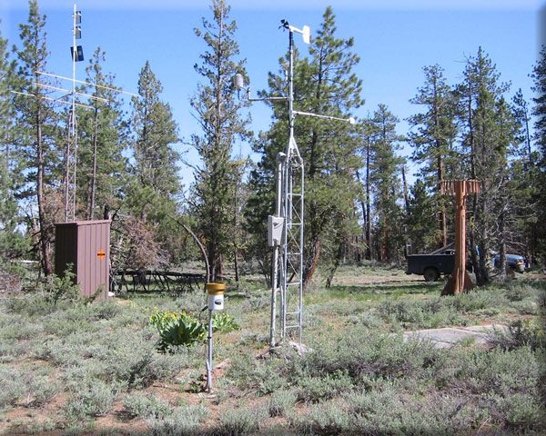 Photograph is of the Silver Creek  SNOTEL site.
