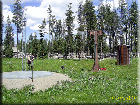 Photograph is of the Snake River Station  SNOTEL site.