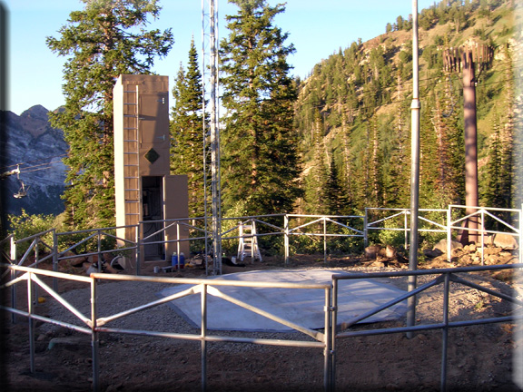 Photograph is of the Snowbird              SNOTEL site.