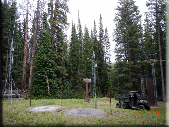 Photograph is of the Spring Creek Divide   SNOTEL site.
