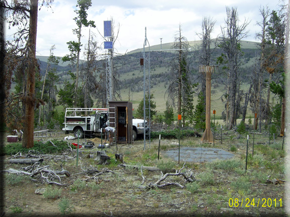 Photograph is of the St. Lawrence Alt  SNOTEL site.
