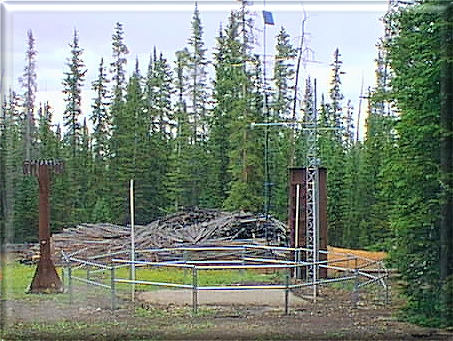 Photograph is of the Steel Creek Park  SNOTEL site.
