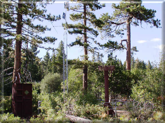 Photograph is of the Tahoe City Cross      SNOTEL site.