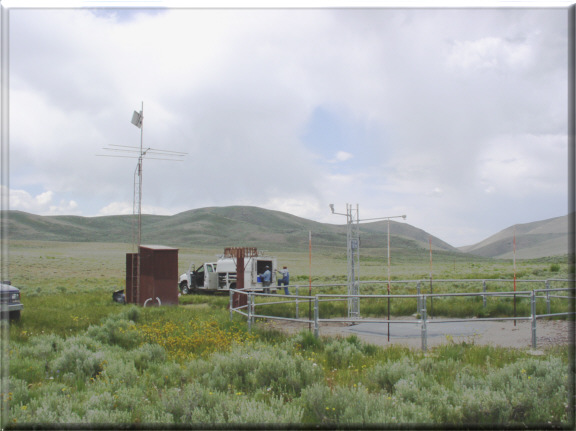 Photograph is of the Taylor Canyon         SNOTEL site.