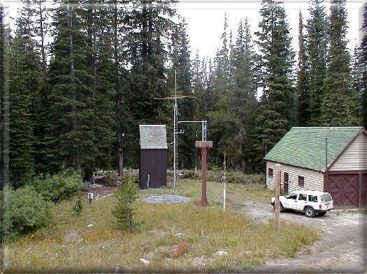 Photograph is of the Trinity Mtn.          SNOTEL site.
