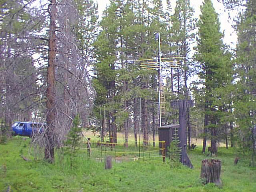Photograph is of the Vail Mountain  SNOTEL site.