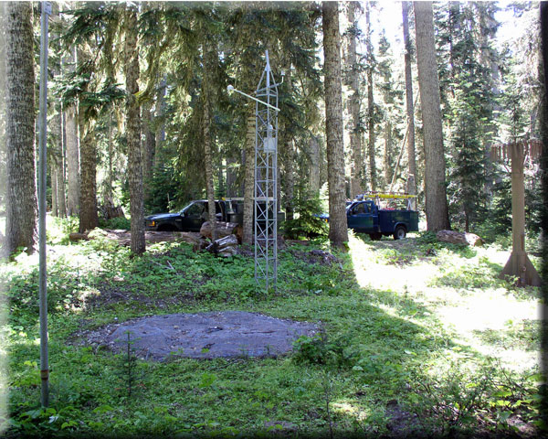 Photograph is of the White Pass E.S.  SNOTEL site.