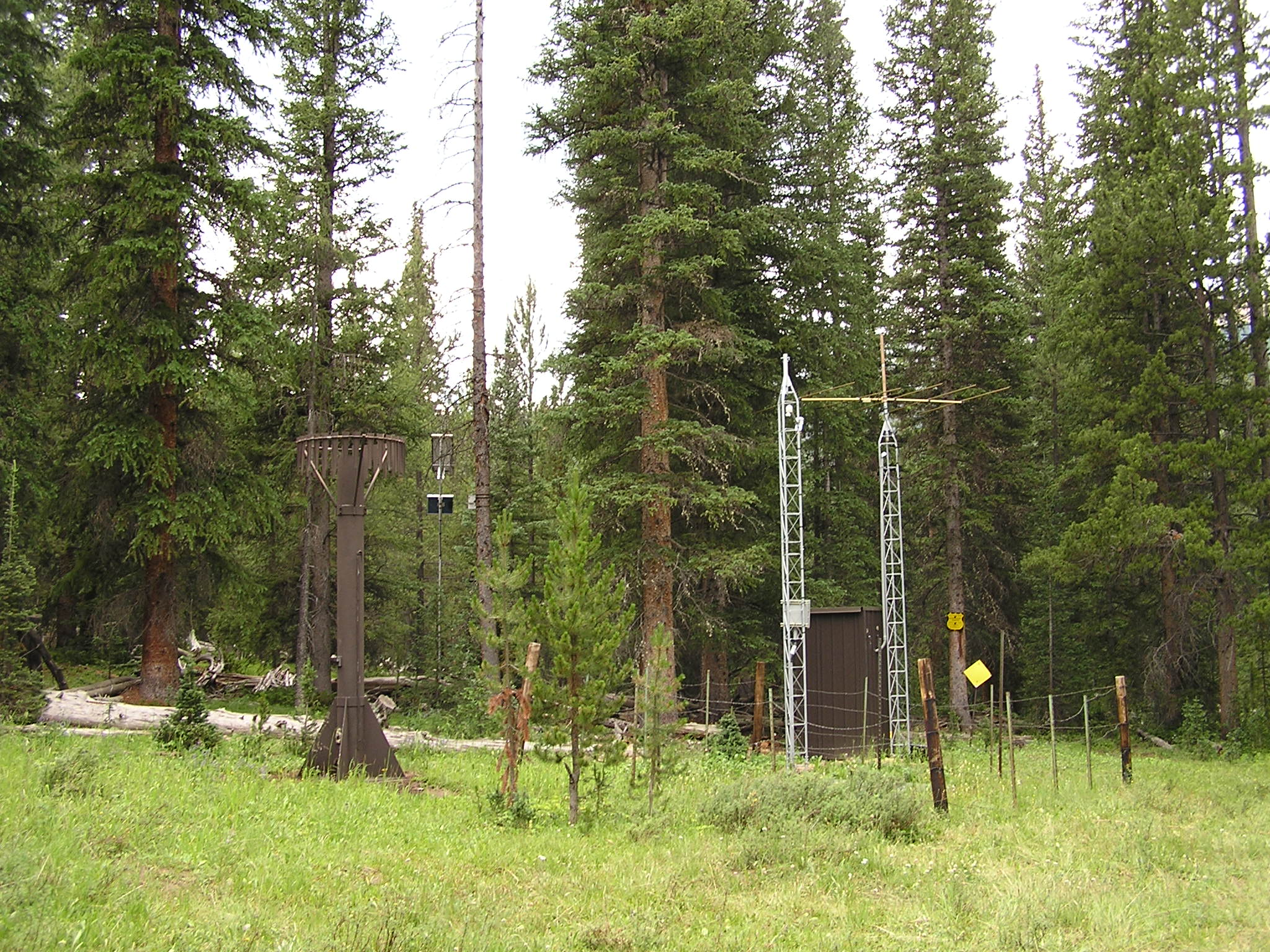 Photograph is of the Willow Creek Pass     SNOTEL site.