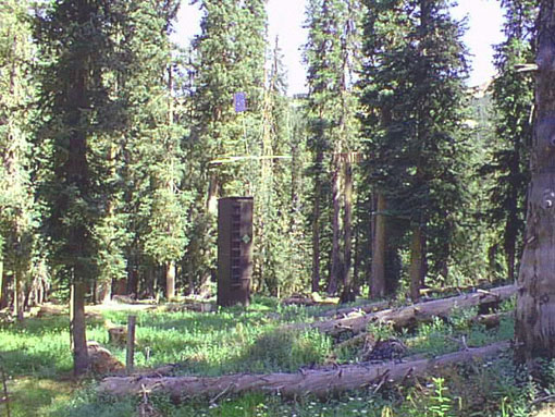 Photograph is of the Wolf Creek Summit  SNOTEL site.