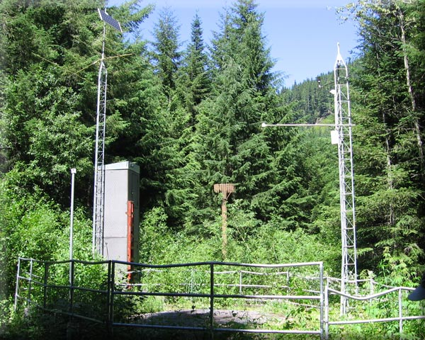 Photograph is of the Tinkham Creek         SNOTEL site.