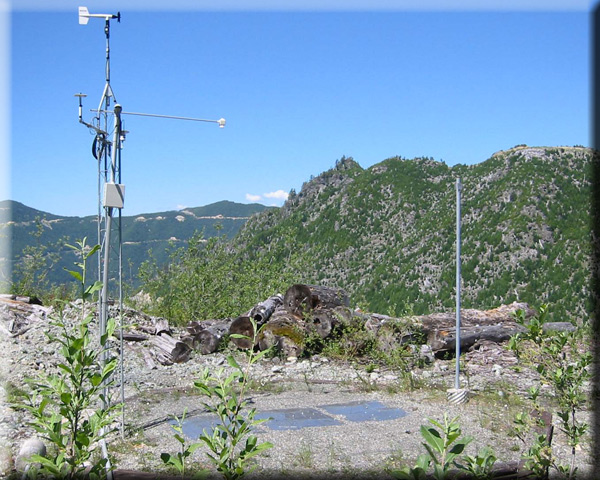 Photograph is of the Skookum Creek         SNOTEL site.