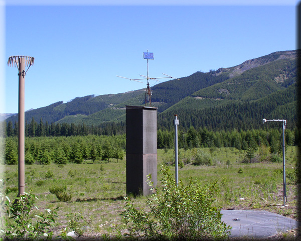 Photograph is of the Huckleberry Creek  SNOTEL site.