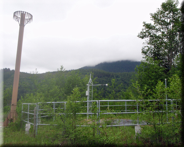 Photograph is of the Mowich  SNOTEL site.