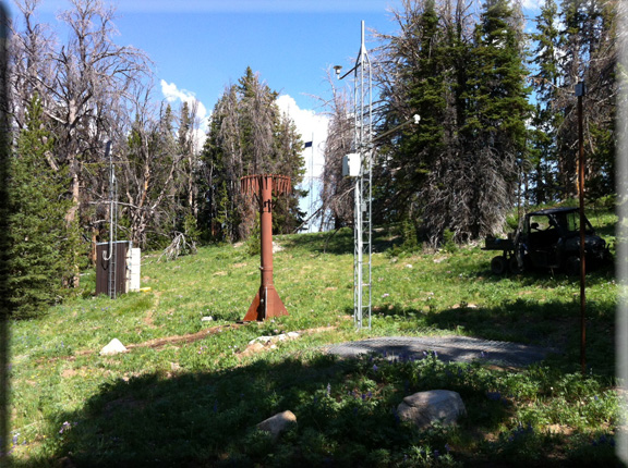 Photograph is of the Gunsight Pass  SNOTEL site.