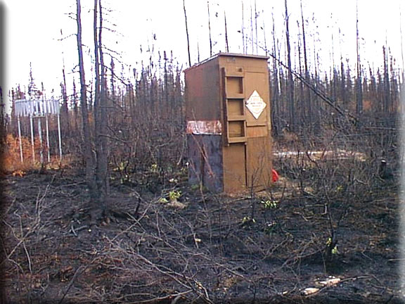 Photograph is of the Little Chena Ridge  SNOTEL site.