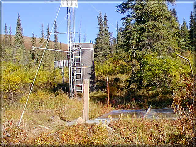Photograph is of the Upper Chena           SNOTEL site.
