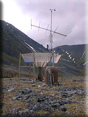 Photograph is of the Atigun Pass  SNOTEL site.