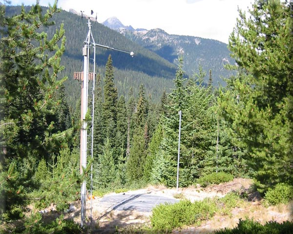 Photograph is of the Swamp Creek           SNOTEL site.